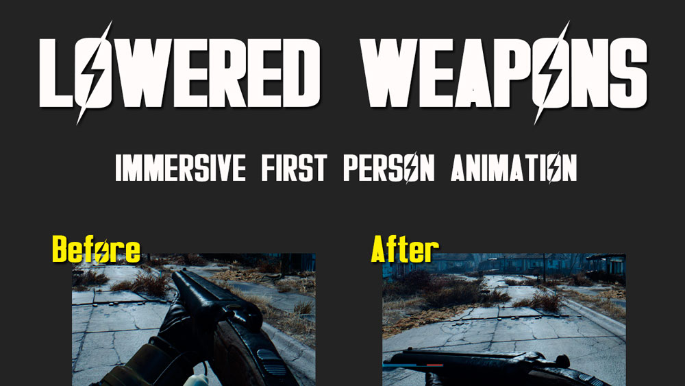Lowered Weapons Mod for Fallout 4