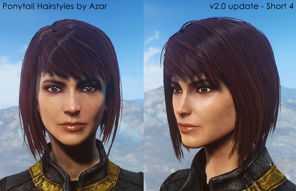 [Ponytail Hairstyles Mod by Azar