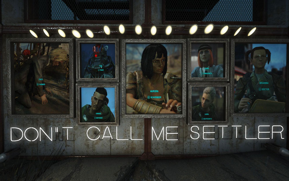 Don't Call Me Settler Mod for Fallout 4