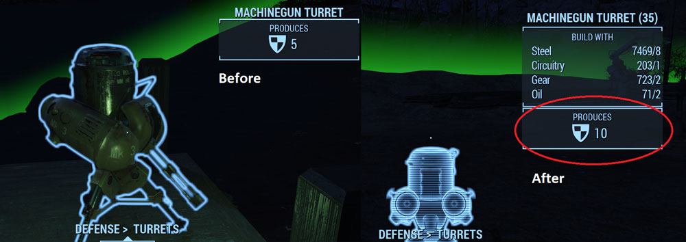 Settlement Turrets Defense Rating X2