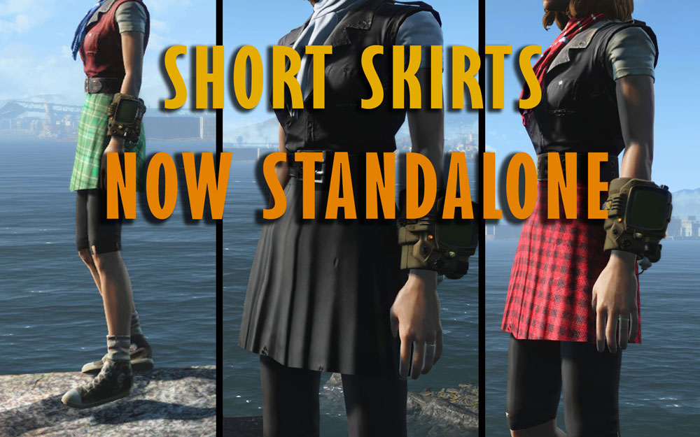 Short Skirts Mod for Fallout 4