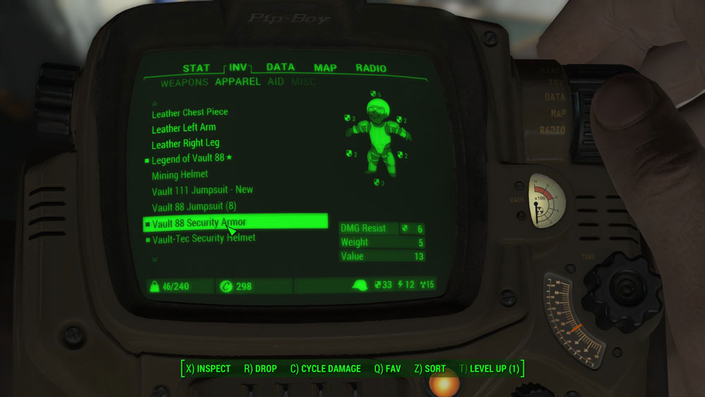 Vault 88 Security Armor Mod for Fallout 4
